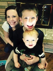 Cassie Manning, who spoke with the News-Leader in 2016 about her heroin addiction, died last week. Her family believes it was an overdose. She is pictured here with her sons, Liam and Casey.