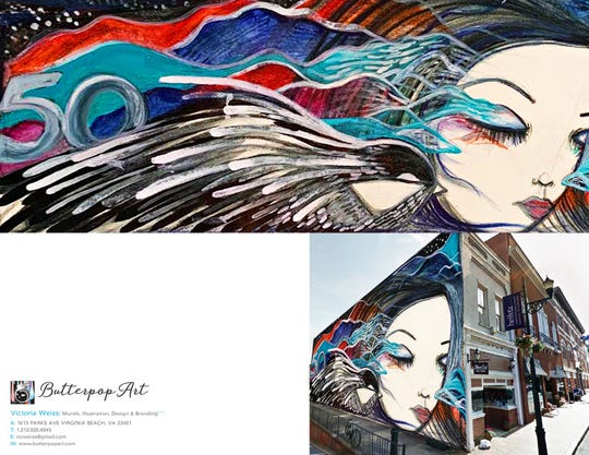 Victoria Weiss' submission for the downtown Staunton mural.