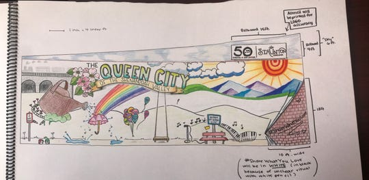 Jillian Marie's submission for the downtown Staunton mural.