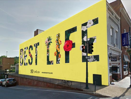 Carl Medley's submission for the downtown Staunton mural.