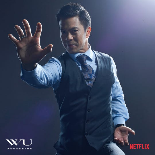 "Byron Mann stars in the Netflix series ""Wu Assassins."""