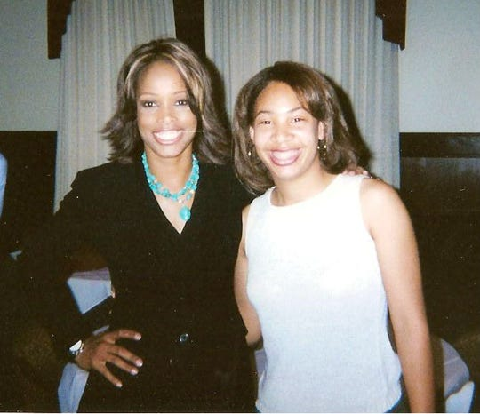 Pam Oliver (left) serves as a role model for several journalist including fellow Rattler  Tiffany Greene. Both women cover sports on a national level. Greene, who now works for ESPN, took this photo with Oliver during her collegiate days in the early 2000s.
