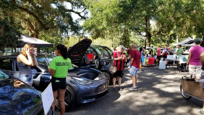 Last year's EV Expo at St. Paul's United Methodist Church.