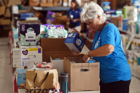 """Missionary Flights International continued receiving, sorting and packing donations from the public to help aid the people of the Bahamas on Friday, Sept. 6, 2019 after Hurricane Dorian swept over the island chain. """"We're in need of both physical donations and monetary donations,"""" said Joe Karabensh, president of MFI. """"Our main focus is to get the supplies to both Freeport and Abaco, and more particularly this island of Man-O-War,"""" Karabensh added."""