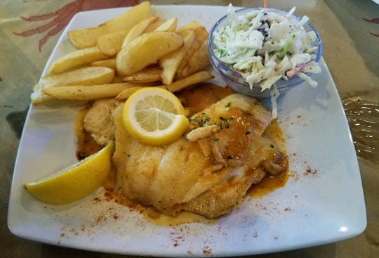 Hogfish was the fresh catch of the day topped with a delicious chive butter sauce.