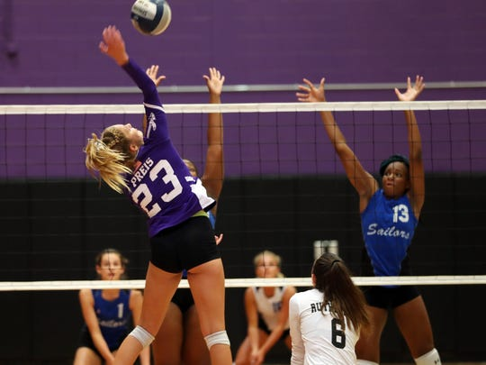 Hen Hud defeated John Jay in the fifth set to win a thriller at John Jay High School in Cross River Sept. 5, 2019.