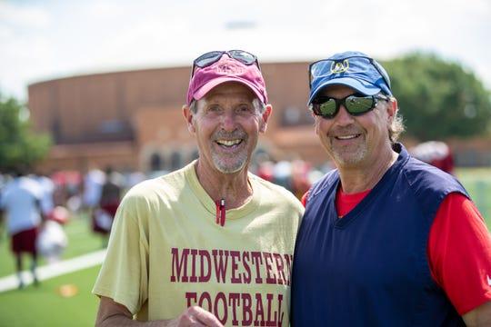 MSU head football coach Bill Maskill and former NFL coach Marty Mornhinweg