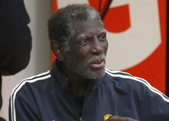 Al Attles visited the Warriors at practice during the playoffs in May.