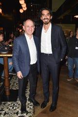 "Dev Patel (right) and his ""David Copperfield"" director Armando Iannucci at Toronto International Film Festival."