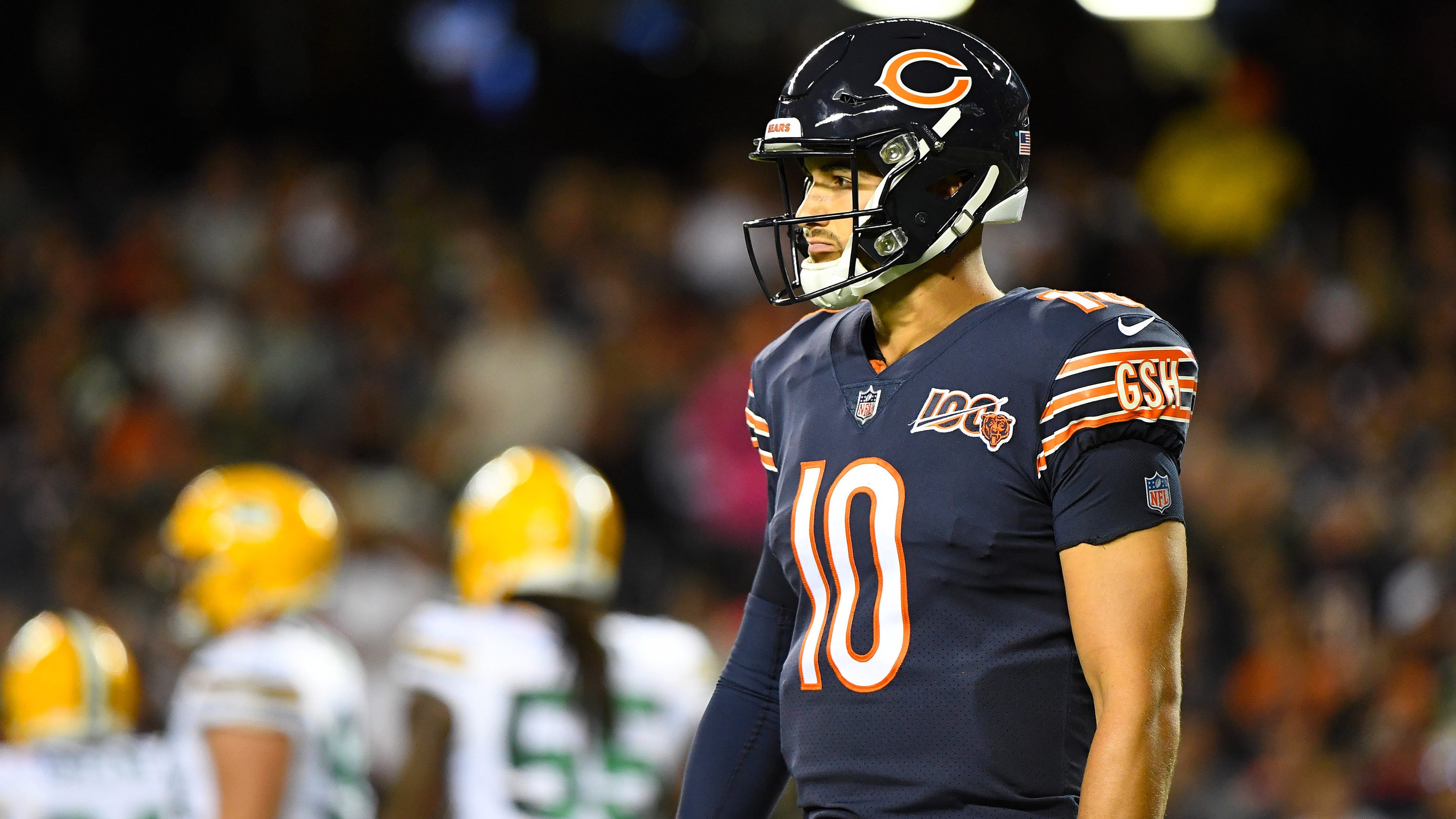 best website 61a80 49653 Packers vs. Bears: Mitchell Trubisky fails test as Green Bay ...