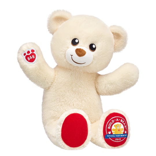 This exclusive bear is available for $6.50 for Build-A-Bear and Walmart's National Teddy Bear Day events.