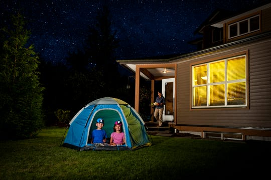 Try backyard camping. You can help your kids rediscover their own yard by spending a night sleeping in it. Without having to travel or spend any extra money, you can enjoy all of the fun of camping with an airtight backup plan should the weather turn bad — your house.