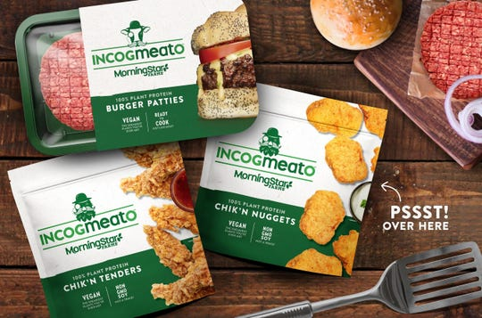 Incogmeato, the new next-gen product line by MorningStar Farms, includes the company's first ready-to-cook plant-based burger and frozen, fully prepared plant-based Chik'n tenders and nuggets.