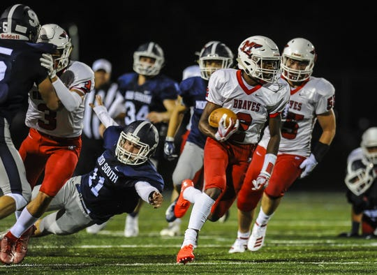 NJ football: Johnson helps Manalapan race past Middletown South