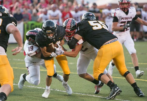 Pisgah faced off against Tuscola at C.E. Weatherby Stadium in Waynesville on September 6, 2019.  Pisgah took the win in the rivalry game with a final score of 14-0.