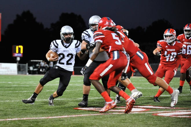 Erwin hosted Robbinsville  in their home opener, on September 6, 2019. Robbinsville defeated Erwin, 54 - 21.