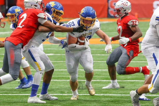 Maine-Endwell fell to Carthage, 52-28, at the Carrier Dome in Syracuse on Sept. 7.