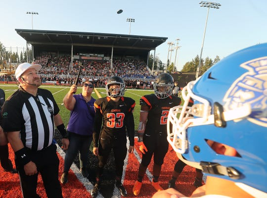 Central Kitsap vs Olympic football at Cougar Field on Friday, September 6, 2019.
