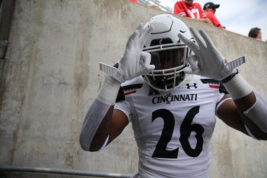 University of Cincinnati player Kyriq McDonald is ready for the game against Ohio State University, Sept. 7, 2019.