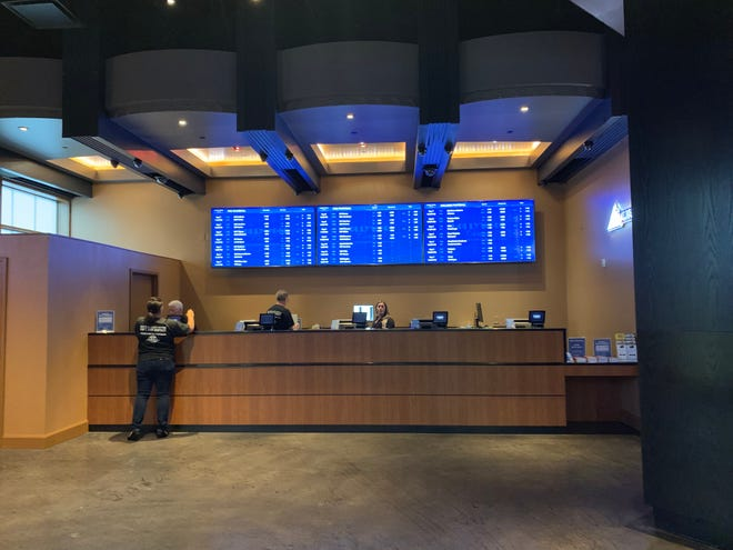 Ticket counter where patrons at Hollywood Casino can now place sports bets.
