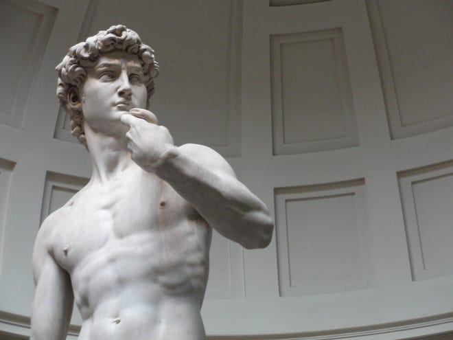 Statue of David by Michelangelo.