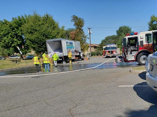 A shred truck caught fire at a Piscataway shredding event on Saturday morning at Riverside Park on River Road. Township fire companies quickly extinguished the fire, police said.
