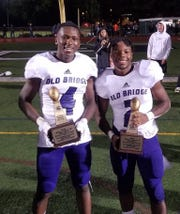 Sam Kamara III, left, and Rhyne Smith earned defensive and offensive MVP honors, respectively, for Old Bridge