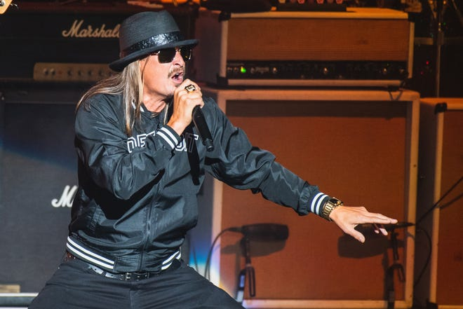 Kid Rock performs at DTE Energy Music Theatre on Friday, Sept. 6, 2019.