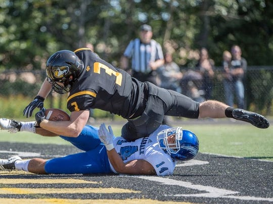 Michigan Tech's Jared Smith rushed for 172 yards and a touchdown in the victory over Hillsdale on Saturday.