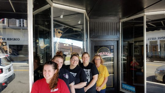 The Stellian's crew from left to right: bartender Kathlyn Berry, cooks Chelsea and Brittany Morgan and their mom Debbie Morgan, and Belinda Anderson.