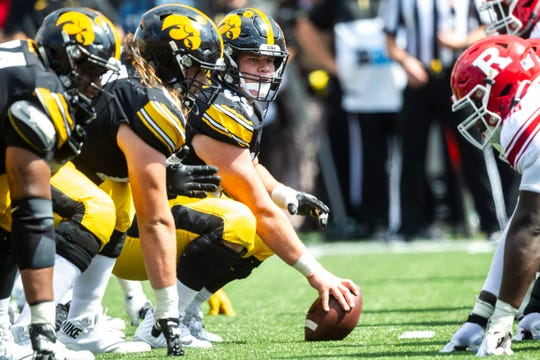 Tyler Linderbaum and the Iowa offensive line face their most difficult task this season, at Iowa State.