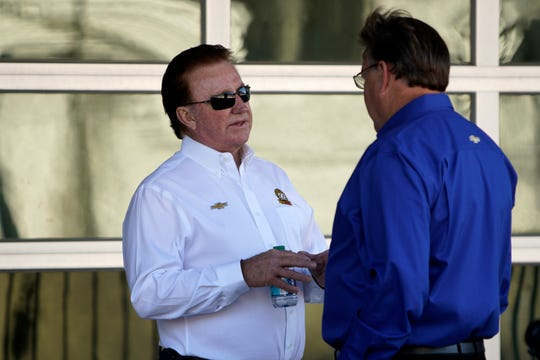 Team owner,Richard Childress during practice at the Indianapolis Motor Speedway, Saturday, Sept. 7, 2019.