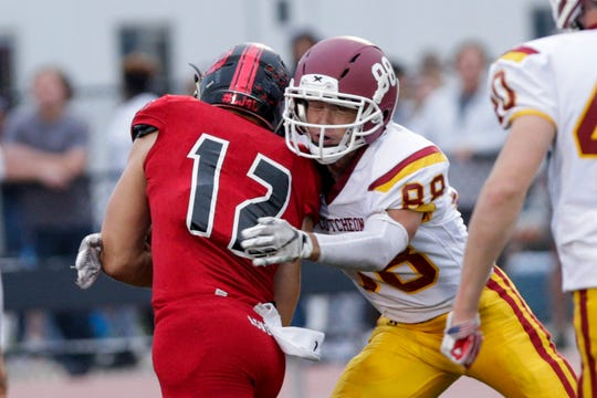 Jeffery Cook had an interception for McCutcheon Friday night, helping the defense shut out Richmond.