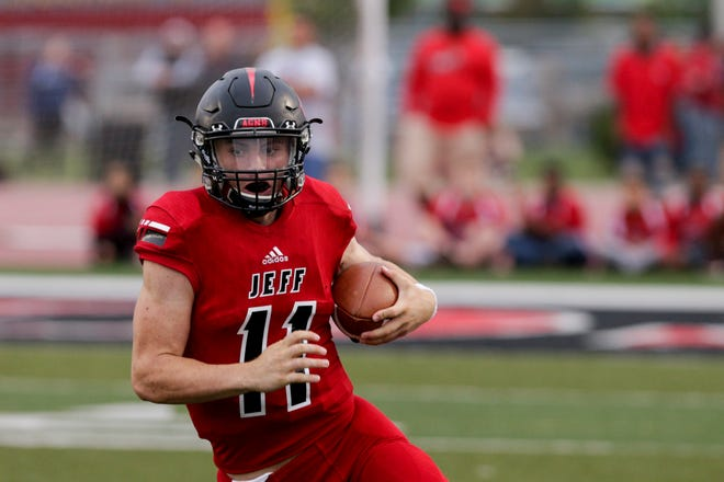 Maximus Grimes threw for 5,340 yards and 68 touchdowns the last two seasons at Lafayette Jeff.