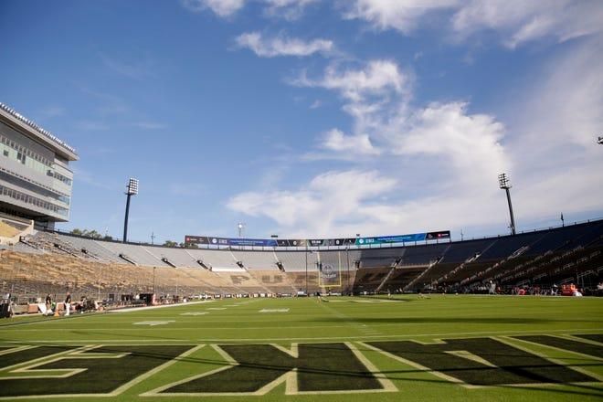 Ross-Ade Stadium before the start of the Purdue vs Vanderbilt game, Saturday, Sept. 7, 2019 at Ross-Ade Stadium in West Lafayette.