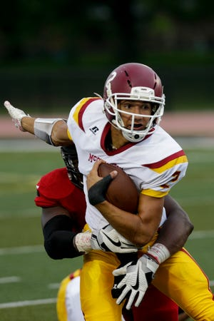 McCutcheon's Mason Douglas rushed for five touchdowns and threw for another Friday night against Kokomo.