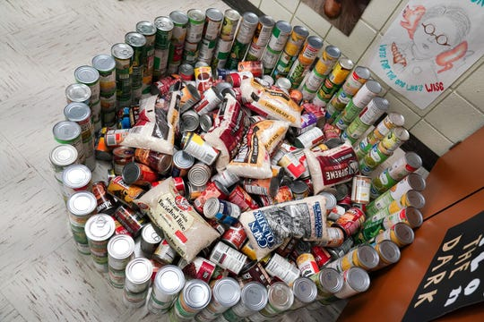 St. Thomas More High School had it's ninth annual CANstruction for St. Joseph Diner.