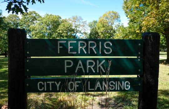 Ferris Park sign Saturday, Sept. 7, 2019.