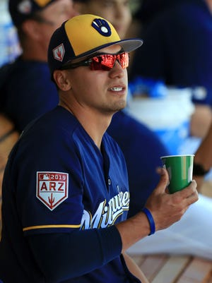 The last thing outfielder Tyrone Taylor thought he'd be doing this time of year was reporting to the Brewers.
