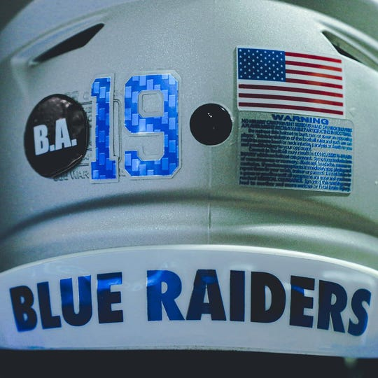 The Blue Raiders will honor former player Brandon Archer with a custom decal on the back of their helmets against Tennessee State.