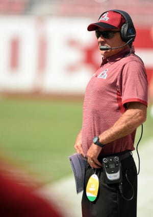 New Mexico State football coach Doug Martin