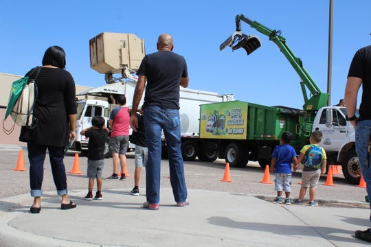 The clanging and banging of the LCU front loader and the Green Grappler keeps kids (and their parents) in rapt attention at the fifth annual Touch-A-Truck event.