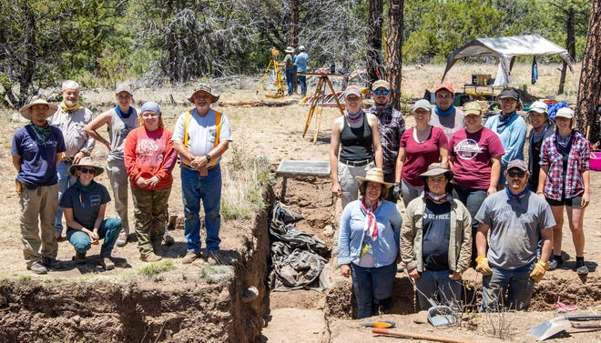 New Mexico State University anthropology students attend the 2019 NMSU Archaeological Field School.