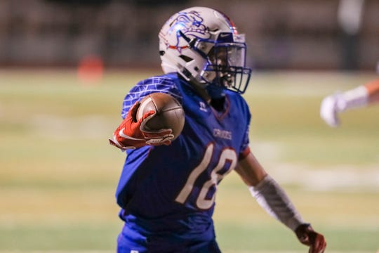 Las Cruces senior Israel Ramirez earned the Las Cruces Sun-New Prep Football Hero award for the second time this season after a stellar performance against Oñate last week.