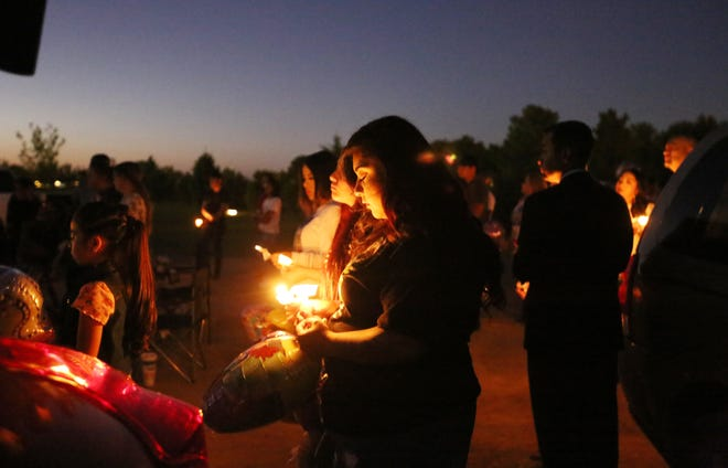 Friends and family came together to remember Faviola Rodriguez and all of New Mexico's abused children during a candlelight vigil Friday, Sept. 6, 2019, at the Masonic Cemetery in Las Cruces. The vigil was hosted by Faviola's family on the one-year anniversary of her death.