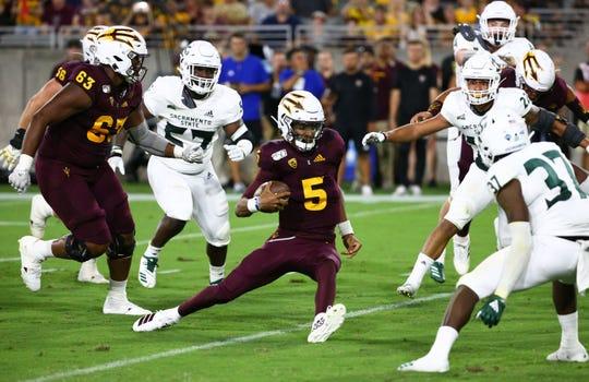 Arizona State's heralded true freshman quarterback Jayden Daniels makes his third start of the season against MSU.
