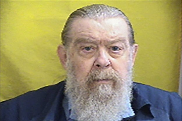 This undated photo provided by the Ohio Department of Rehabilitation & Correction shows Larry Via. Larry Via, an Ohio inmate whose writing published in biker magazines was cited by police in charging him with the shooting death of a motorist found along the Pennsylvania Turnpike in 1972, police said Friday, Sept. 6, 2019. ( the Ohio Department of Rehabilitation & Correction via AP)