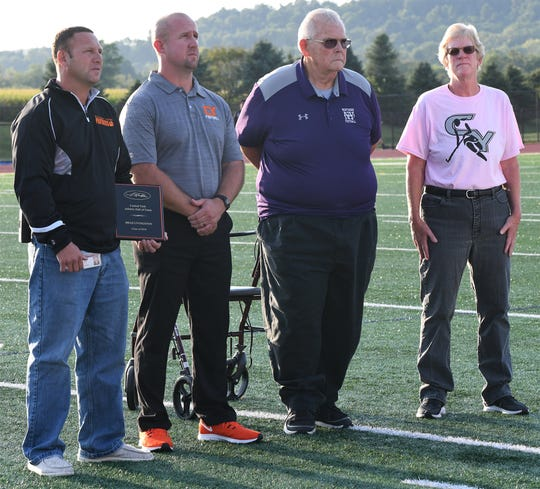 Brad Livingston is inducted into the Central York High School Hall of Fame on Friday, September 6, 2019.