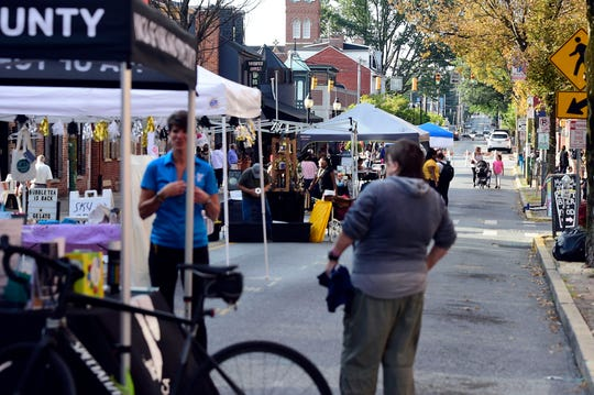 The vendors were set up long before the crowds arrived at First Friday on Sept. 6, 2019.