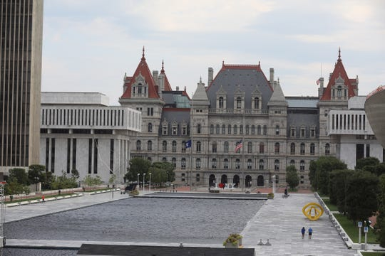 New York has a $6 billion budget gap next fiscal year. Lawmakers return to the state Capitol on Jan. 8, 2020.